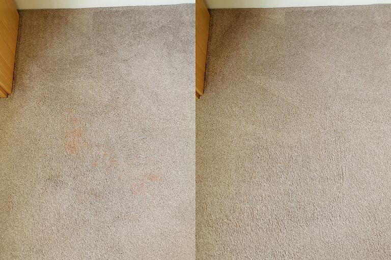Makeup Stain Removal - Bedroom Carpet