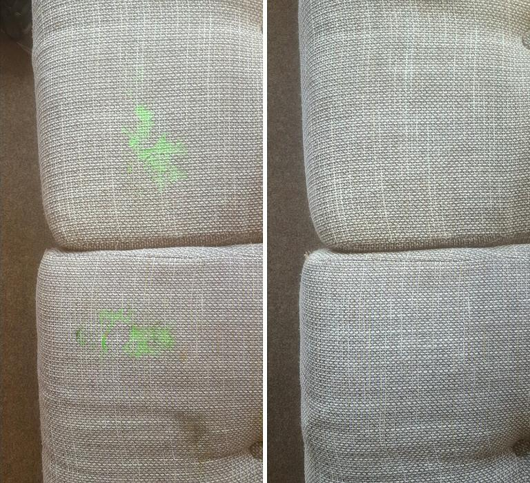 Sofa / Upholstery - Ink Stain Removal