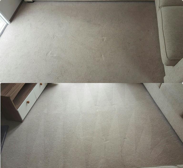 Static Caravan - Lounge Carpet Clean